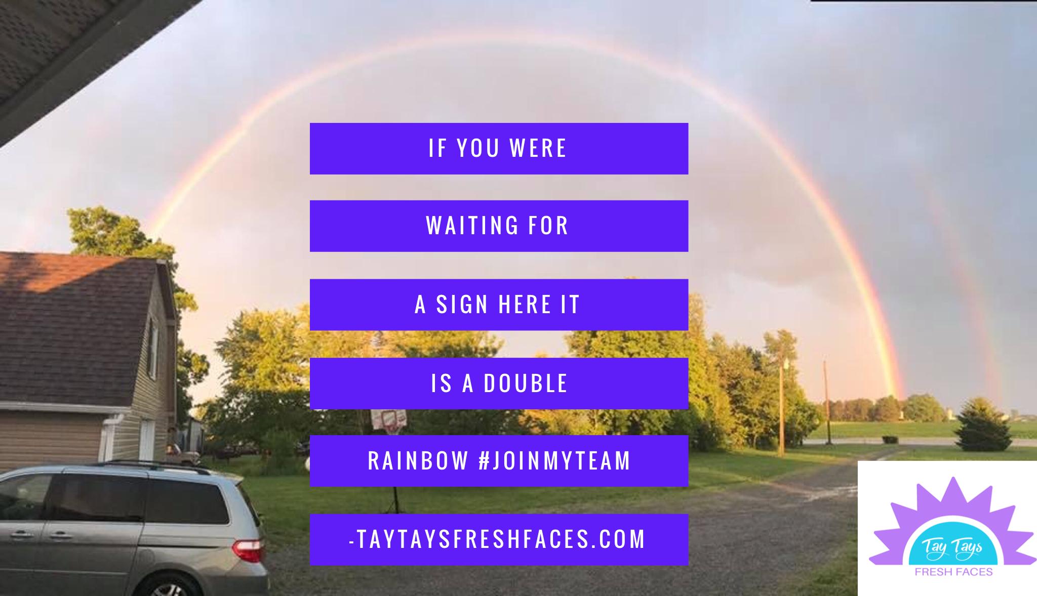 Did You See The Double Rainbow Last Night Taytaysfreshfaces