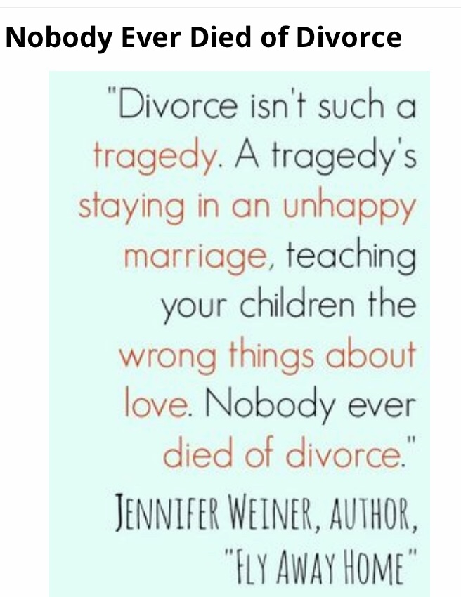 Staying married for the wrong reasons